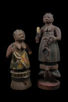 Two female shrine figures, Nigeria, Anago