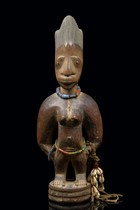 Female twin figure &quot;ere ibeji&quot;, Nigeria, Yoruba, Area of Oyo