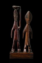 Standing pair of figures, Togo, Ada