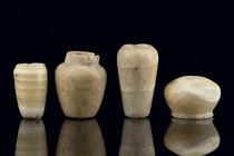 Four small receptacles, Egypt