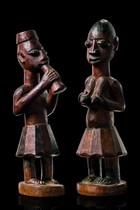 Pair of shrine figures, Nigeria, Anago