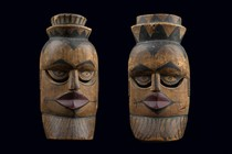 Two face masks, Nigeria, Ibibio