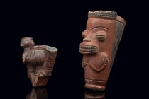 Two tobacco pipes, Cameroon Grassfields