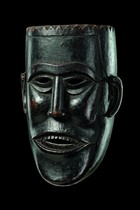 Anthropomorphic face mask, India, Arunachal Pradesh, Monpa