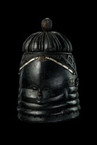 "Helmet mask ""sowei"" of the ""bundu"" society, Sierra Leone, Mende"