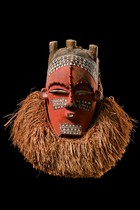 "Anthropomorphic bell mask ""tshimwana"", D. R. Congo, Biombo"
