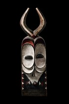 Male masks with horns, D. R. Congo, Bembe