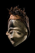 Face mask &quot;mbangu&quot;, D. R. Congo, Pende (West), Kwilu
