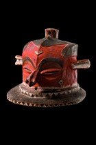 Helmet mask &quot;giphogo&quot;, D. R. Congo, Pende