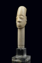 Head sculpture, D. R. Congo, Mangbetu