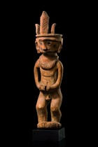 "Male ancestor figure ""adu nuwu"" or ""adu zatua"", Indonesia - Nias"