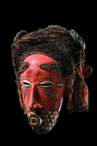 "Anthropomorphic face mask ""ngady amwaash"", D. R. Congo, Kuba"