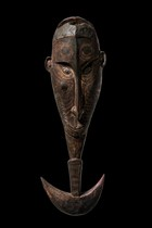Suspension hook in shape of a mask face, Papua New Guinea - Sepik