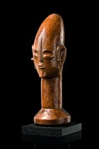 Kopfskulptur, D. R. Kongo, Mangbetu/Azande