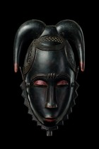 "Face mask ""tu bodu"" (buffalo) of the ""je"" group, Ivory Coast, Yaure"