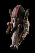 "Mask ""gelede"": Head of a bush pig, Nigeria, Yoruba"
