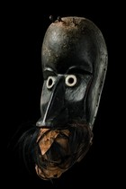 "Mask with hinged jaw ""gägon"", Ivory Coast, Dan"