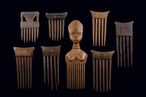 Eight combs, Ivory Coast, Baule