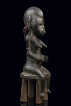 Seated female figure, Ivory Coast, Senufo