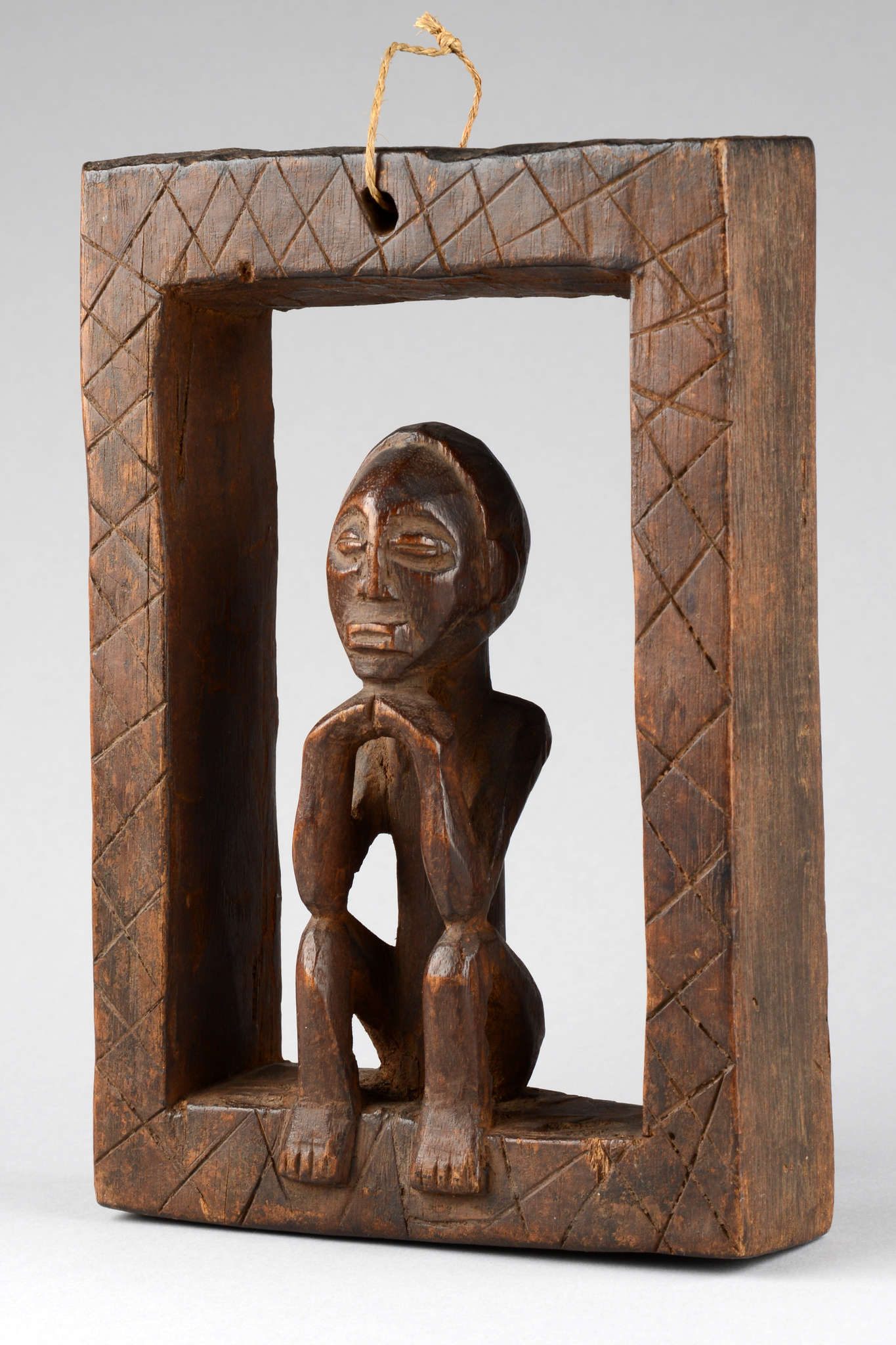 "Figur im Rahmen ""nzambi"""