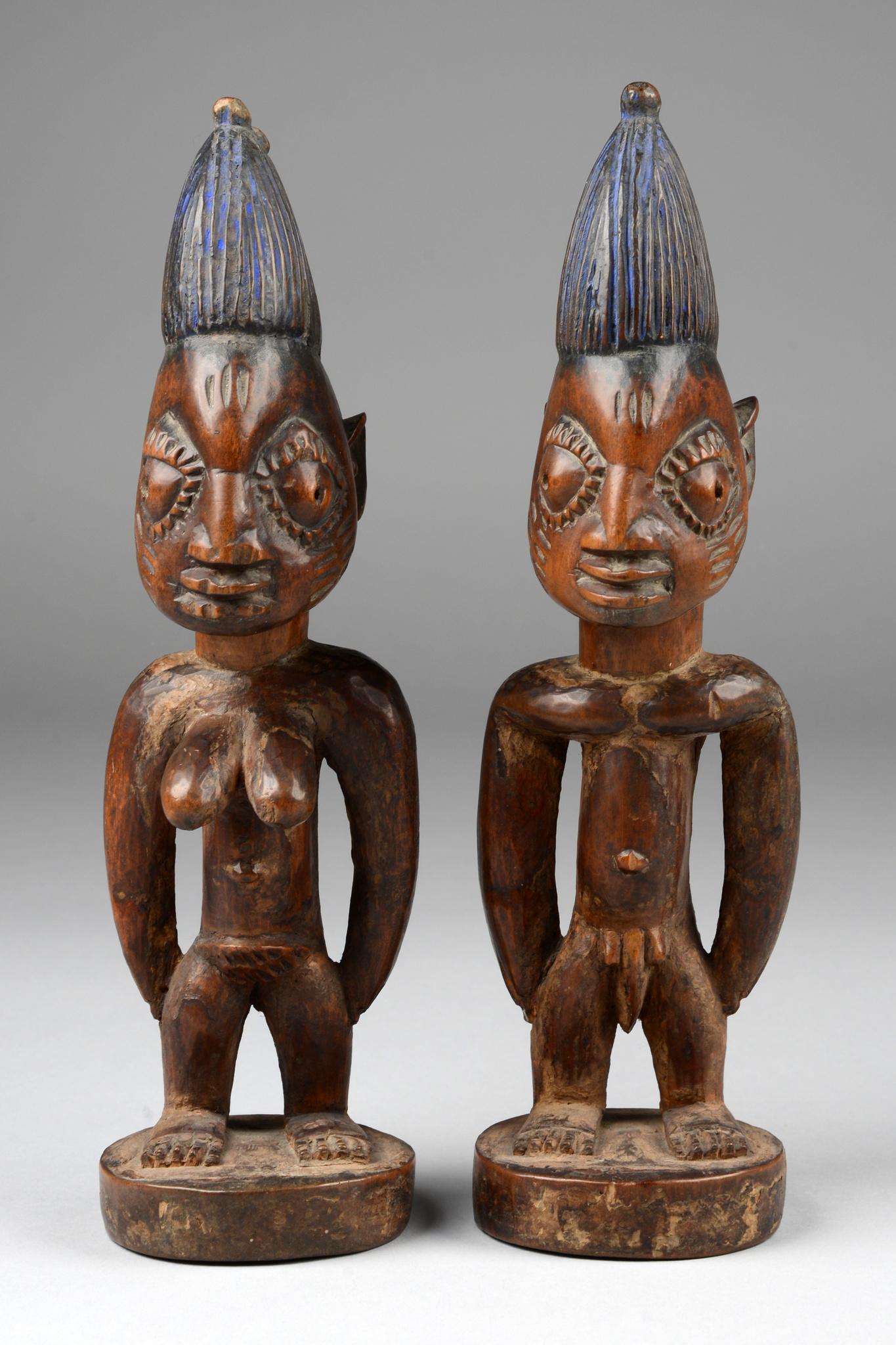 """Zwillingsfigurenpaar """"ere ibeji"""""""