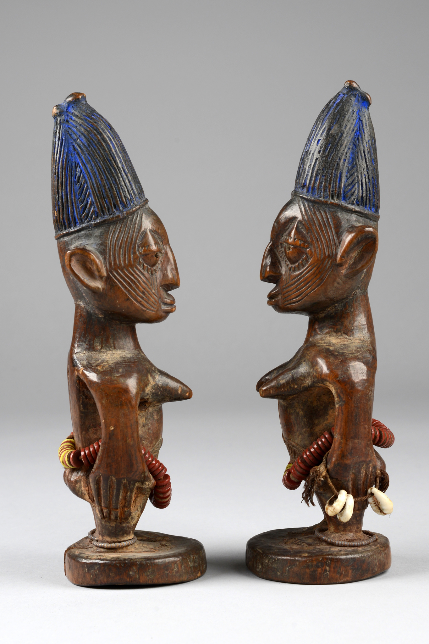 "Couple of female twin figures ""ere ibeji"""