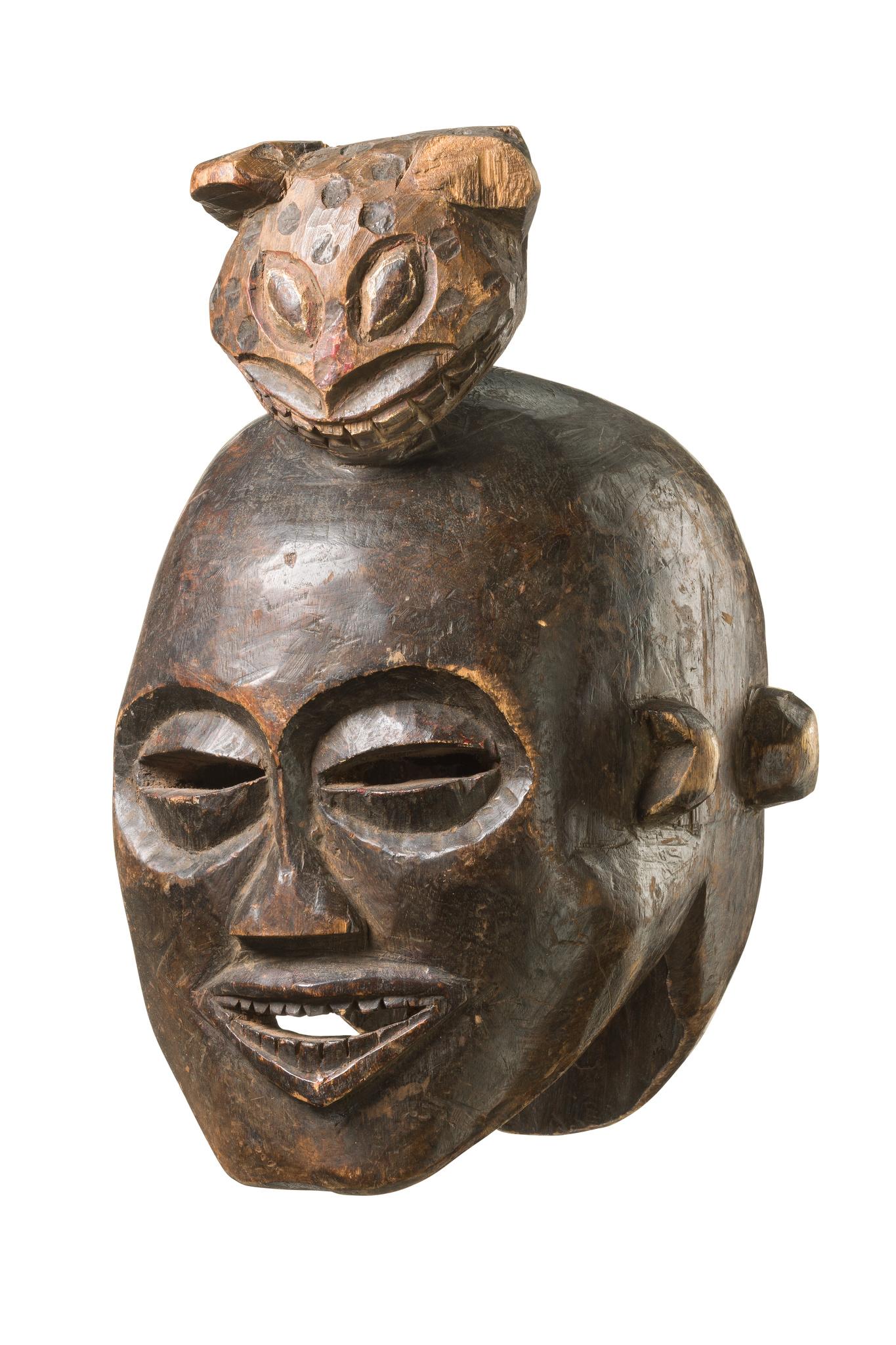 Masque casque tête janus