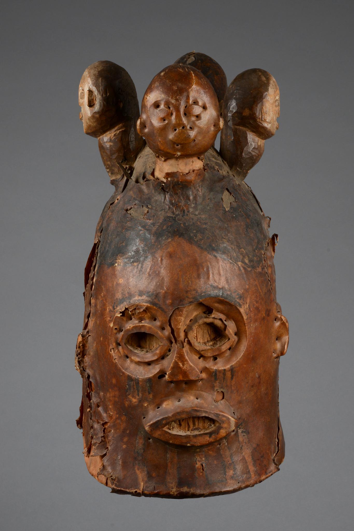"""Janusgesichtige Helmmaske """"agwe"""""""