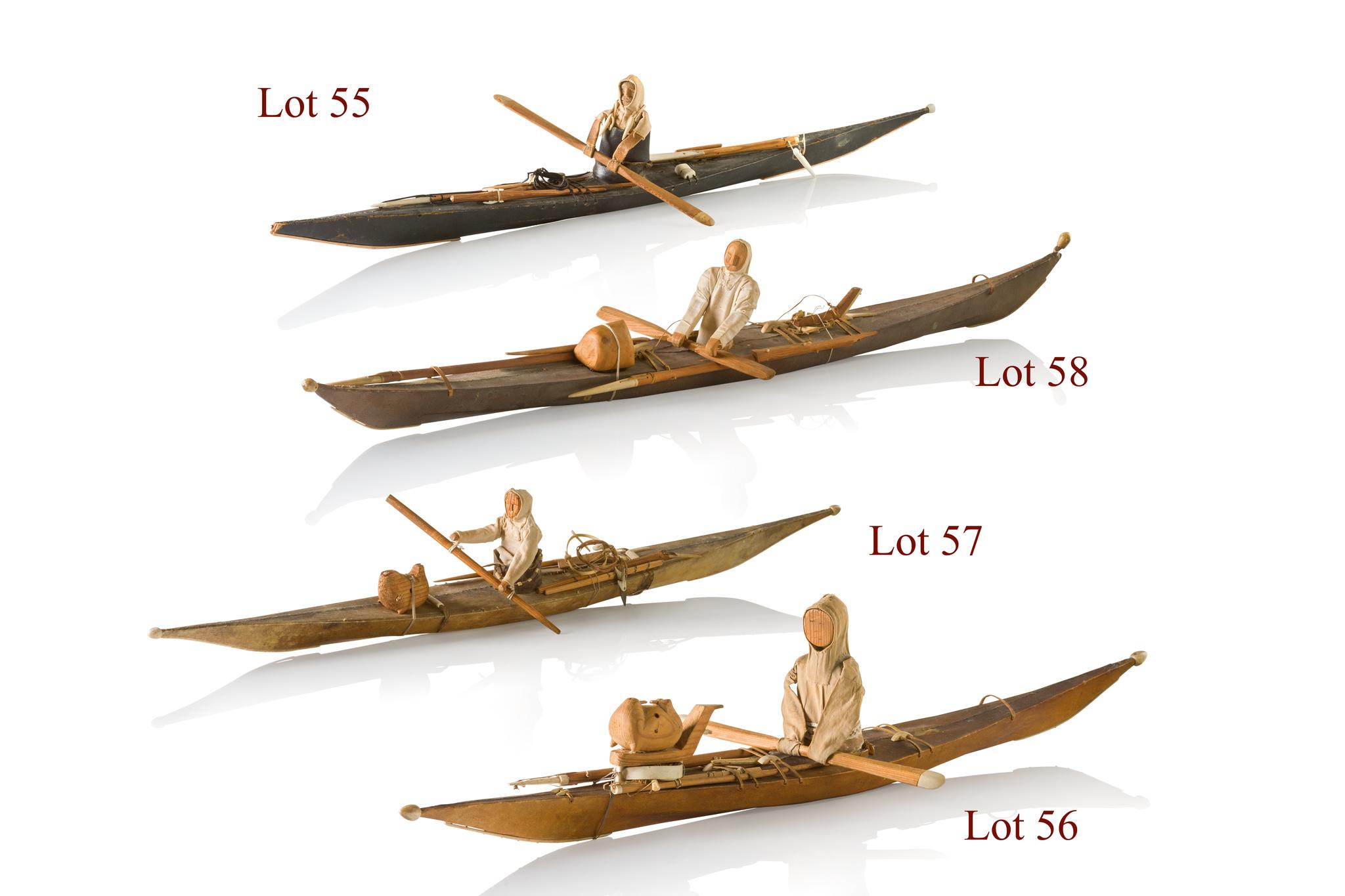 Modèle réduit d´un kayak Inuit