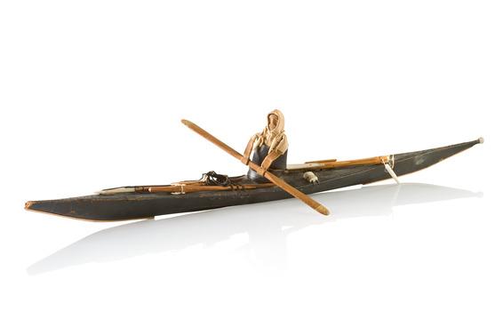 Model of Inuit kajak