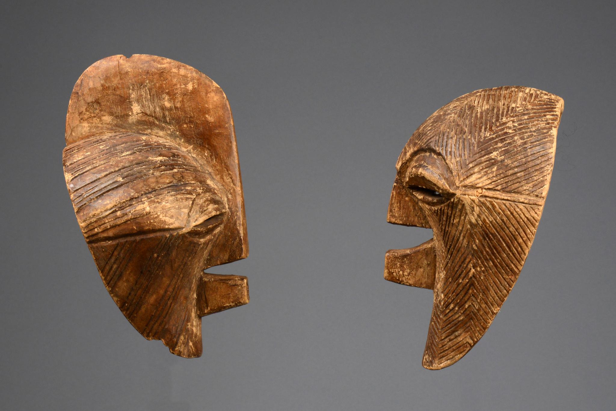 """Two masks """"kifwebe"""""""