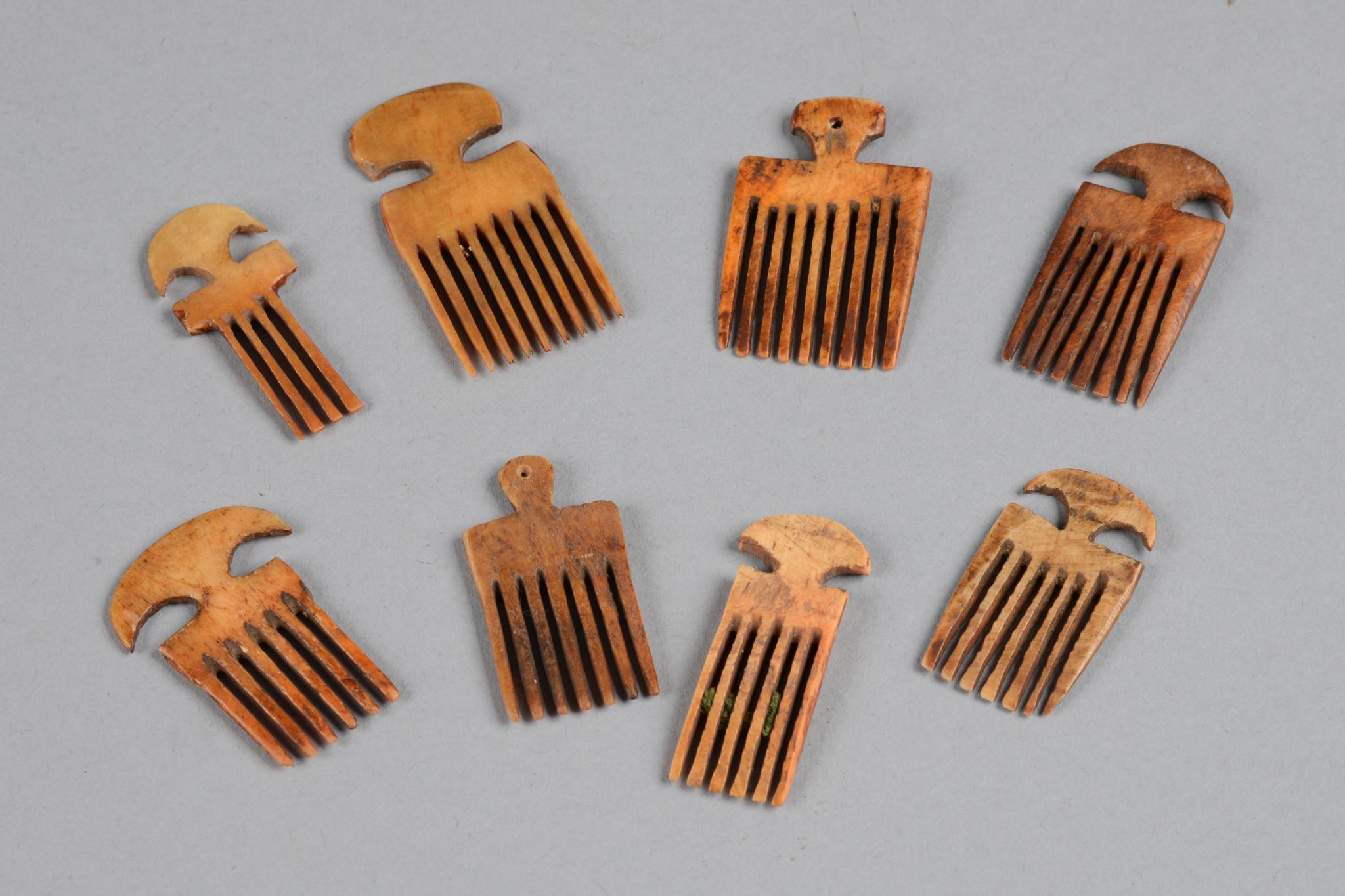 Acht Miniaturkämme
