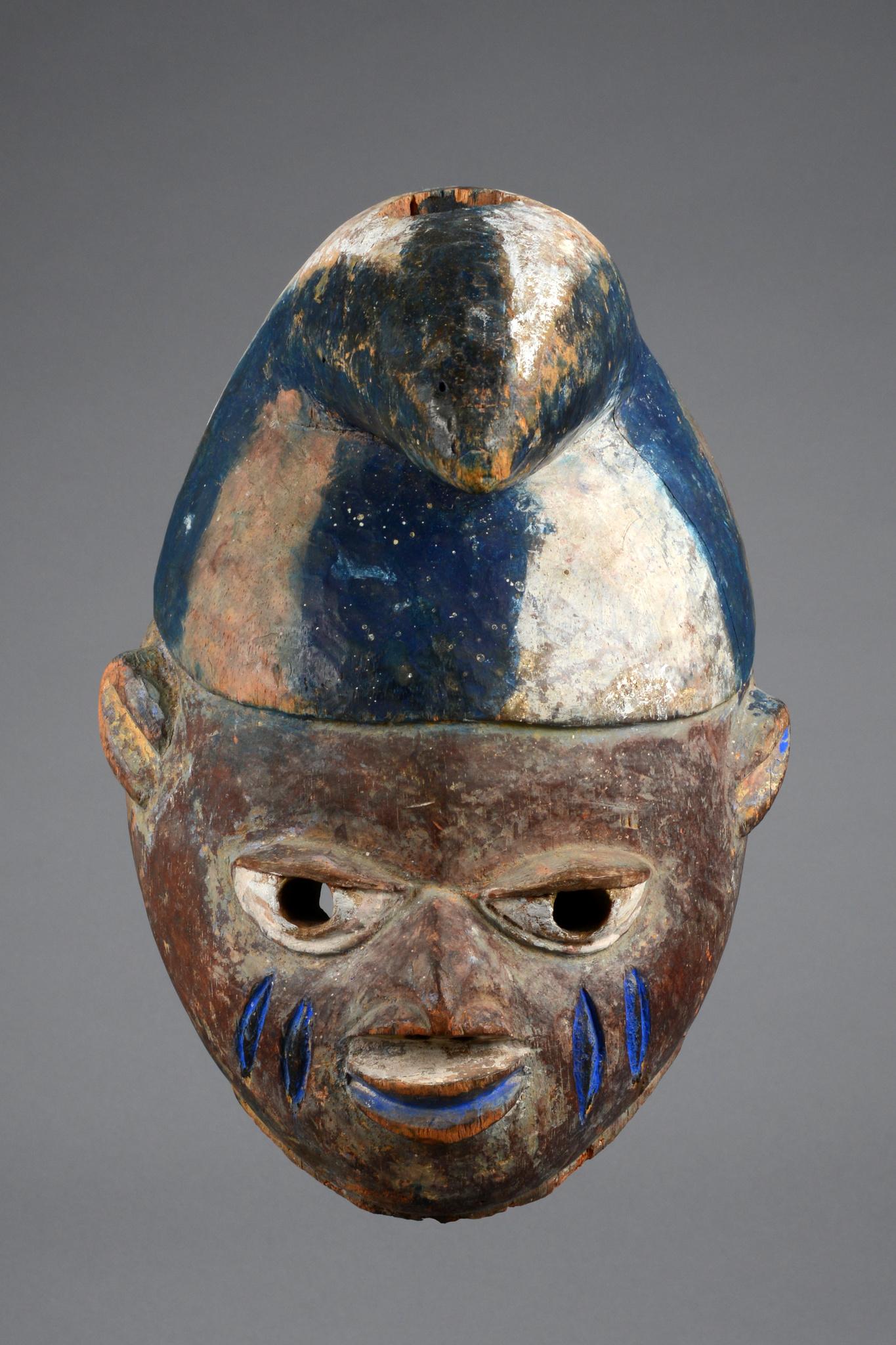 """Helmmaske """"gelede"""" mit Zipfelmütze"""