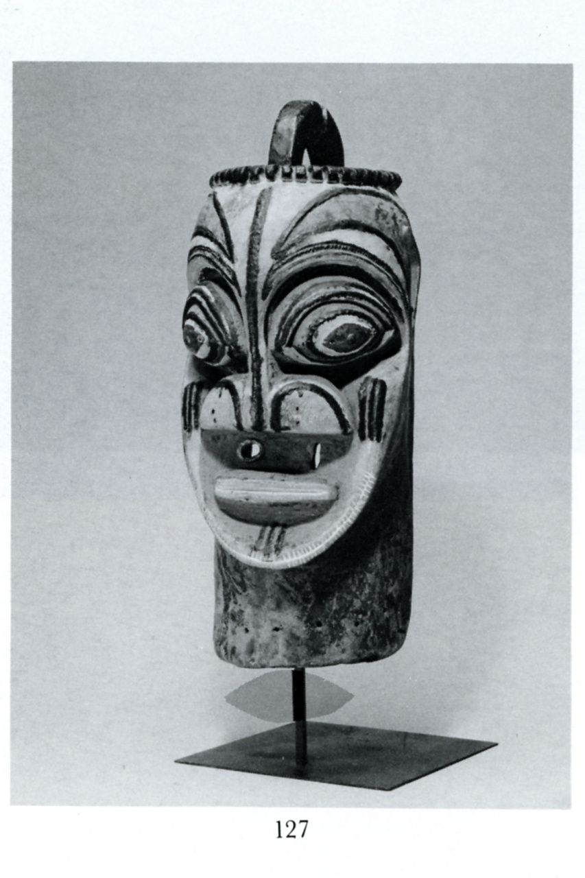 Rare anthropomorphic helmet mask