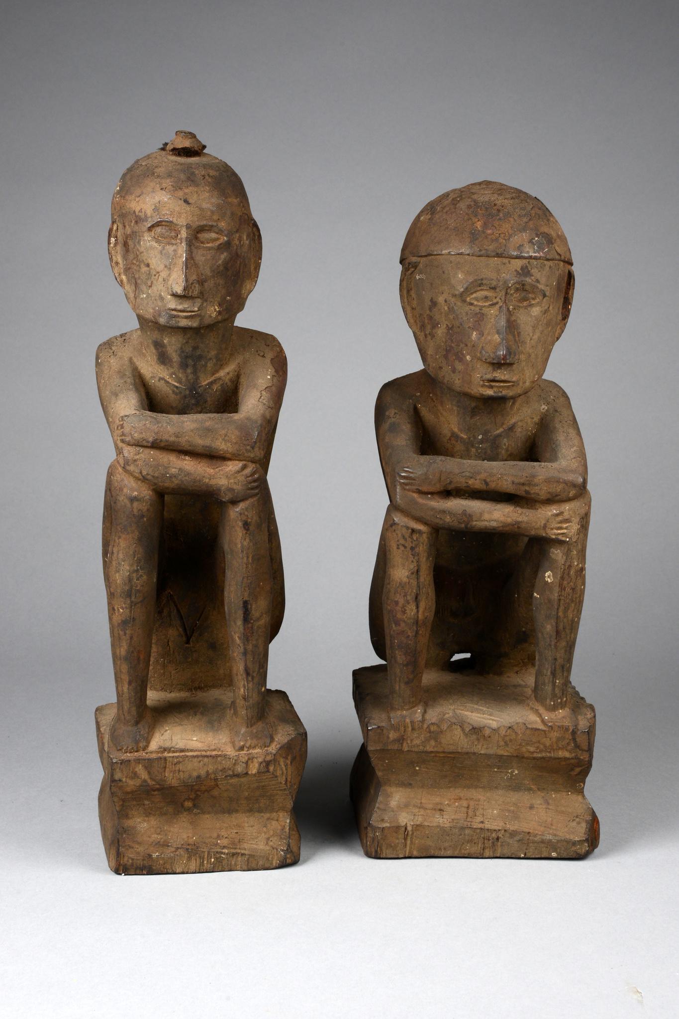 Couple de statuettes dieu du riz