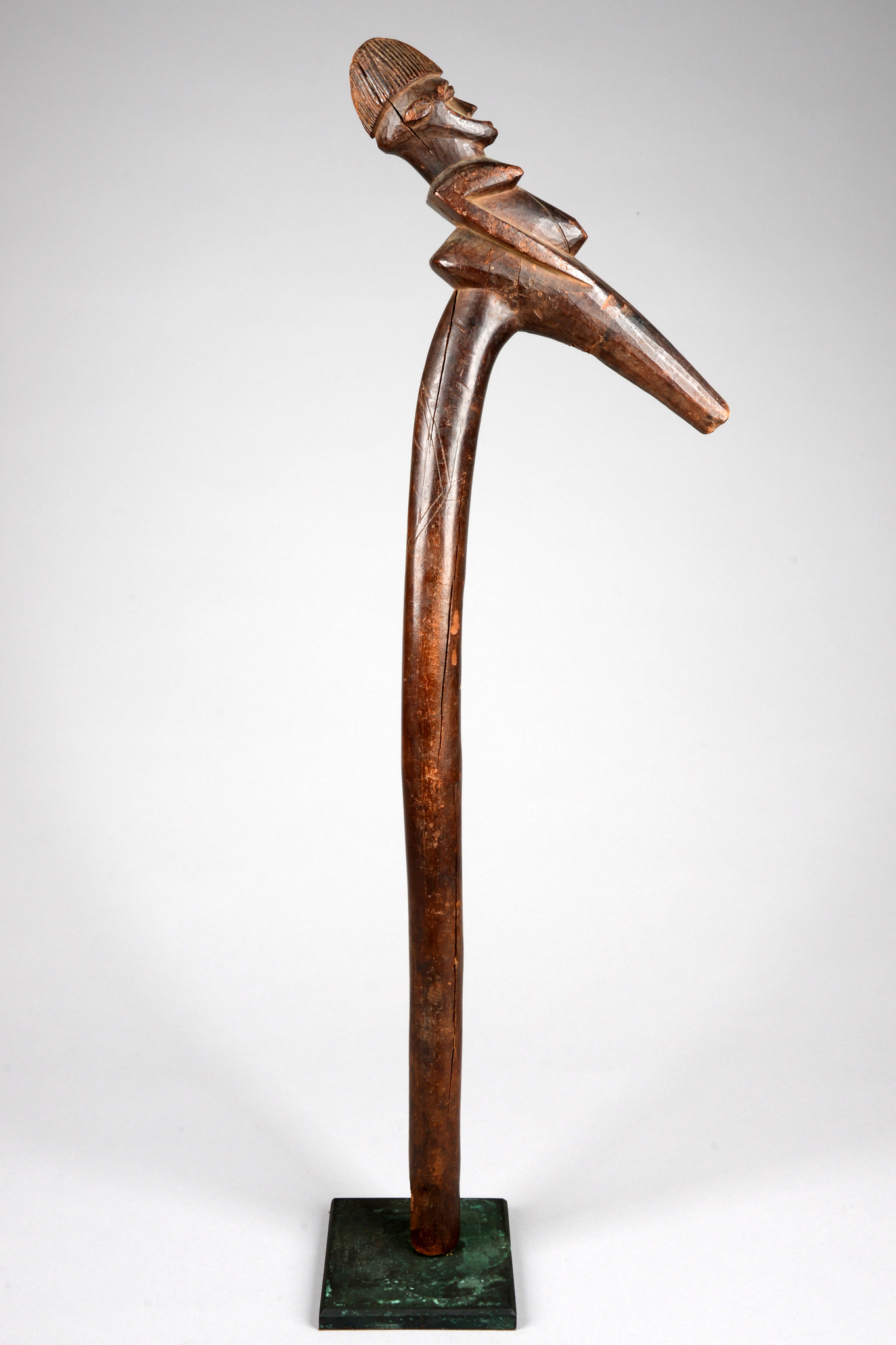 """Figural carved dance staff """"khuluor"""""""