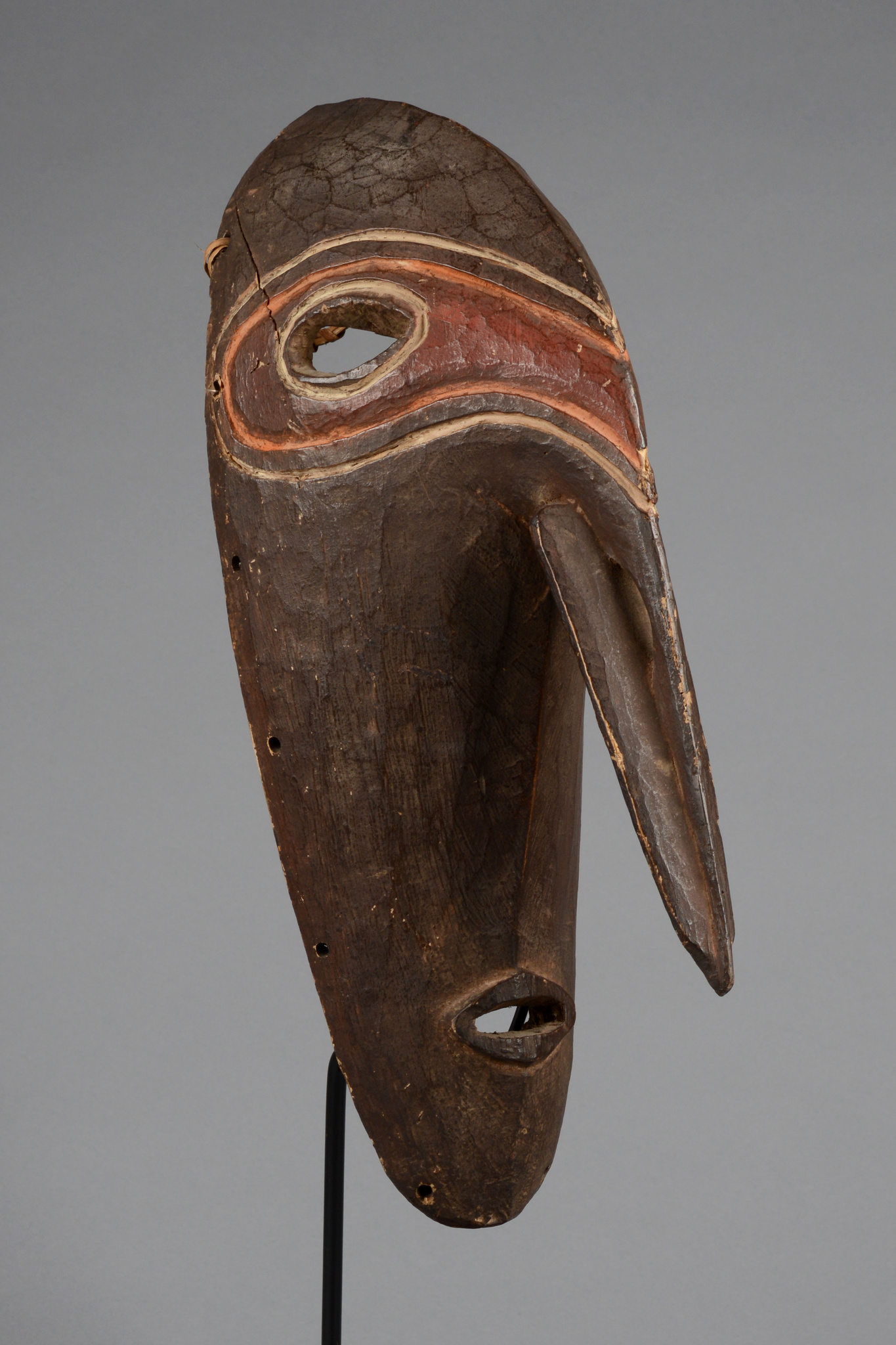 Rare mask with prominent nose
