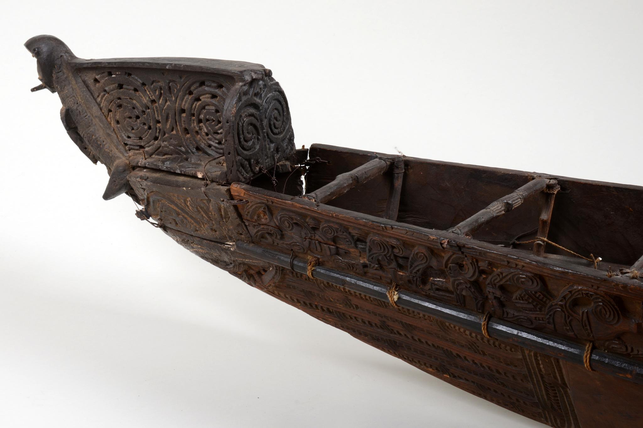 """Model war canoe """"waka taua"""""""