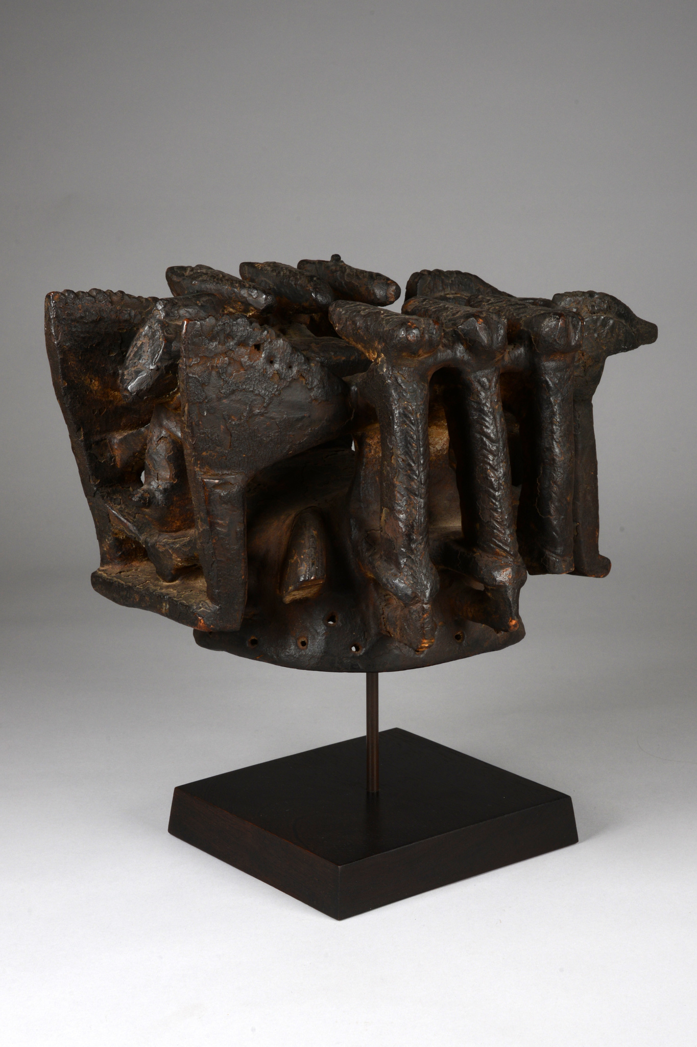 Headdress with figural superstructure