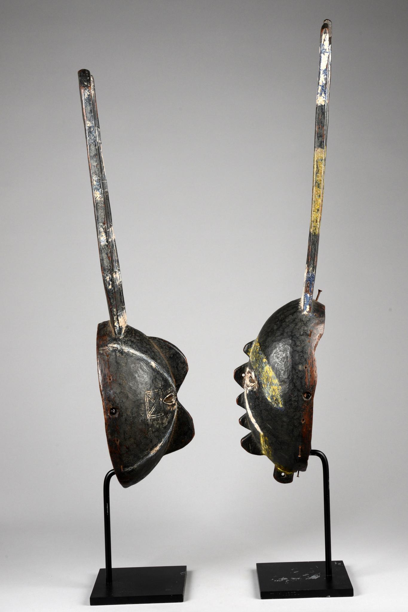 "Two rare masks ""okpu isi amavulu"""