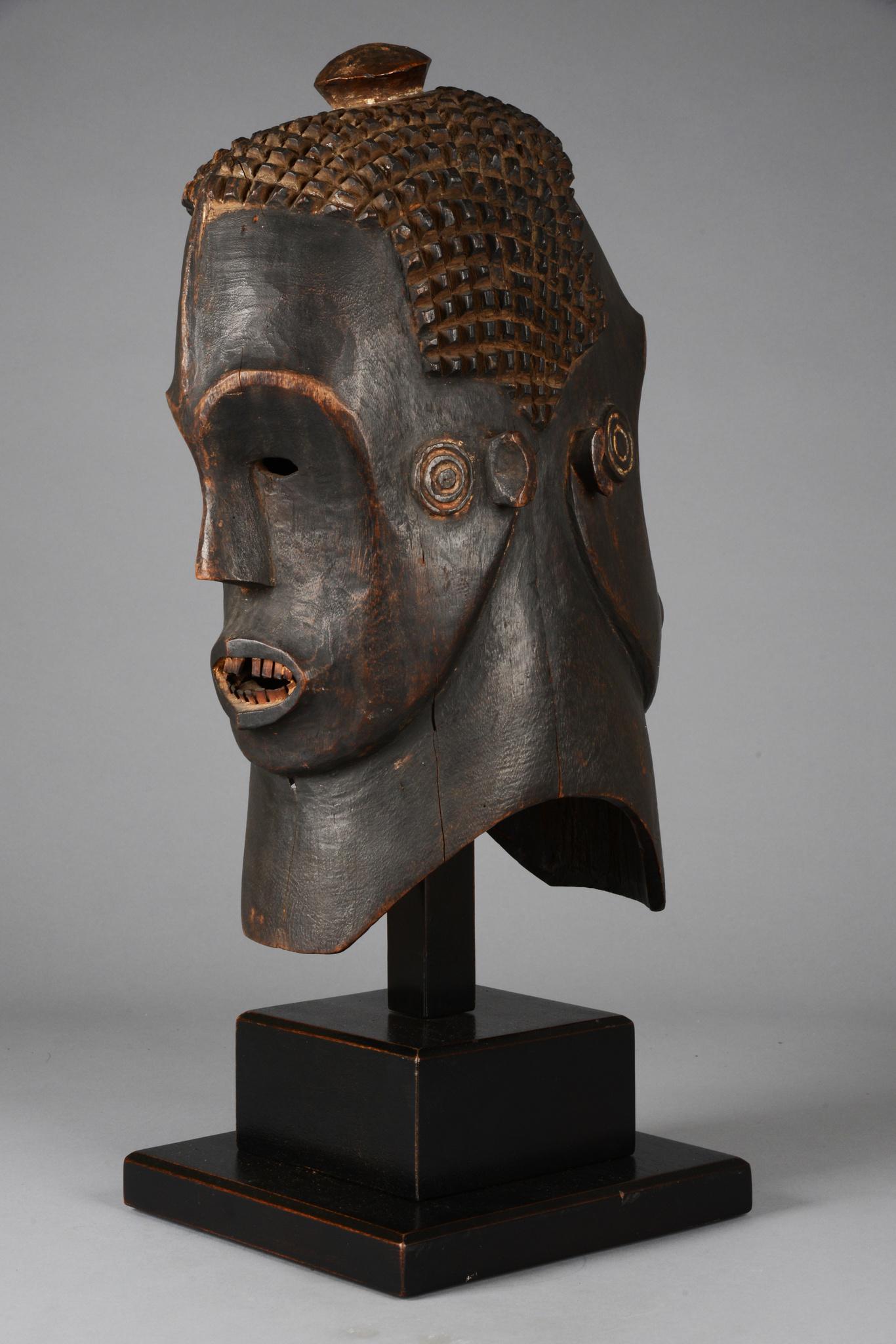 Janus-faced helmet mask