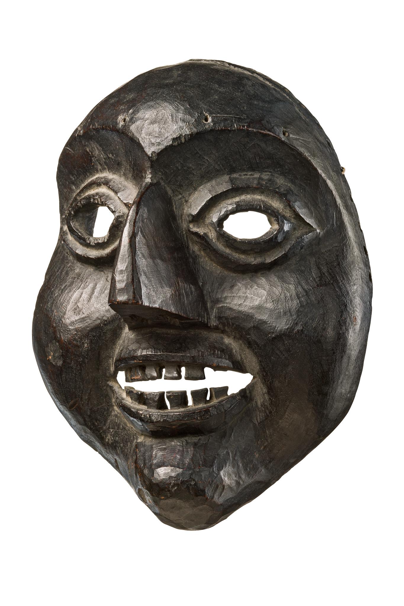 Anthropomorphe Maske mit übergroßer Nase