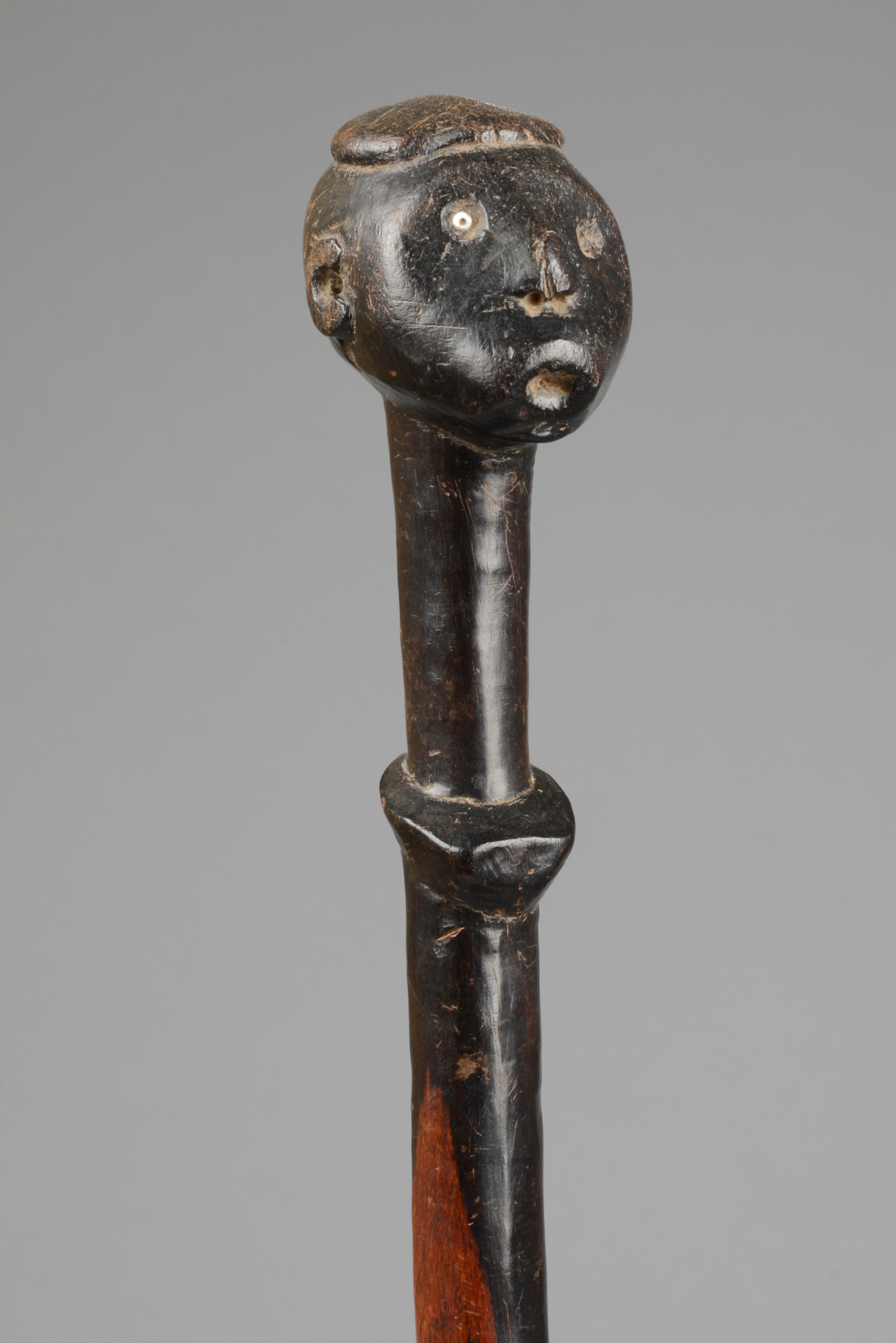Staff with anthropomorphic head
