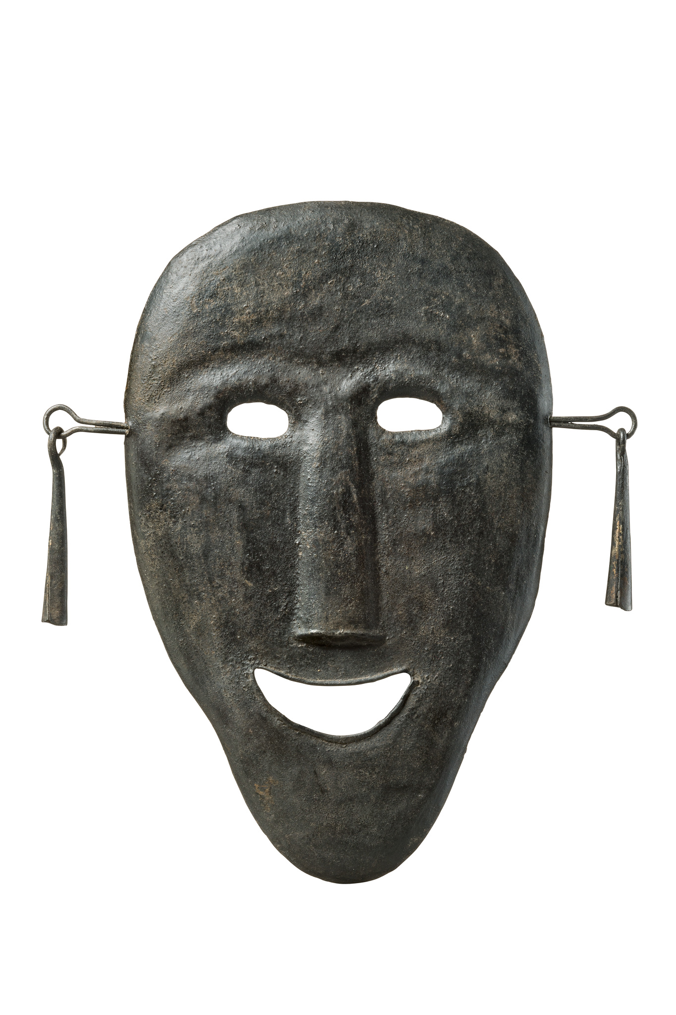 Shaman's mask with ear ornament