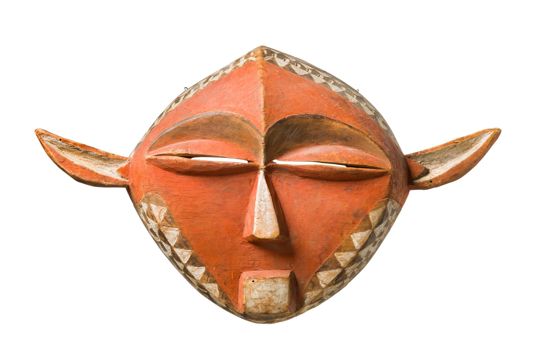 """Anthropo-/ zoomorphe Gesichtsmaske """"panya ngombe"""""""