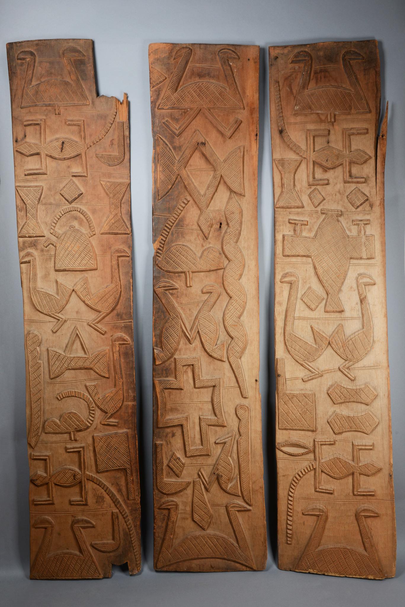 """Three door panels """"ilekun"""""""