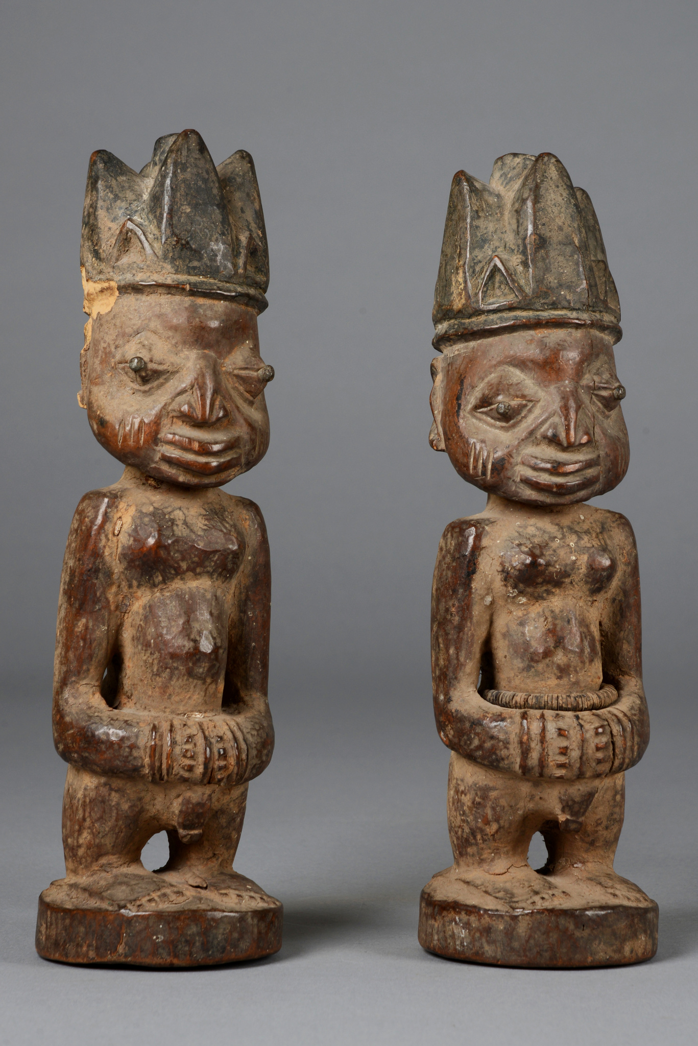 "Male pair of twin figures ""ere ibeji"""