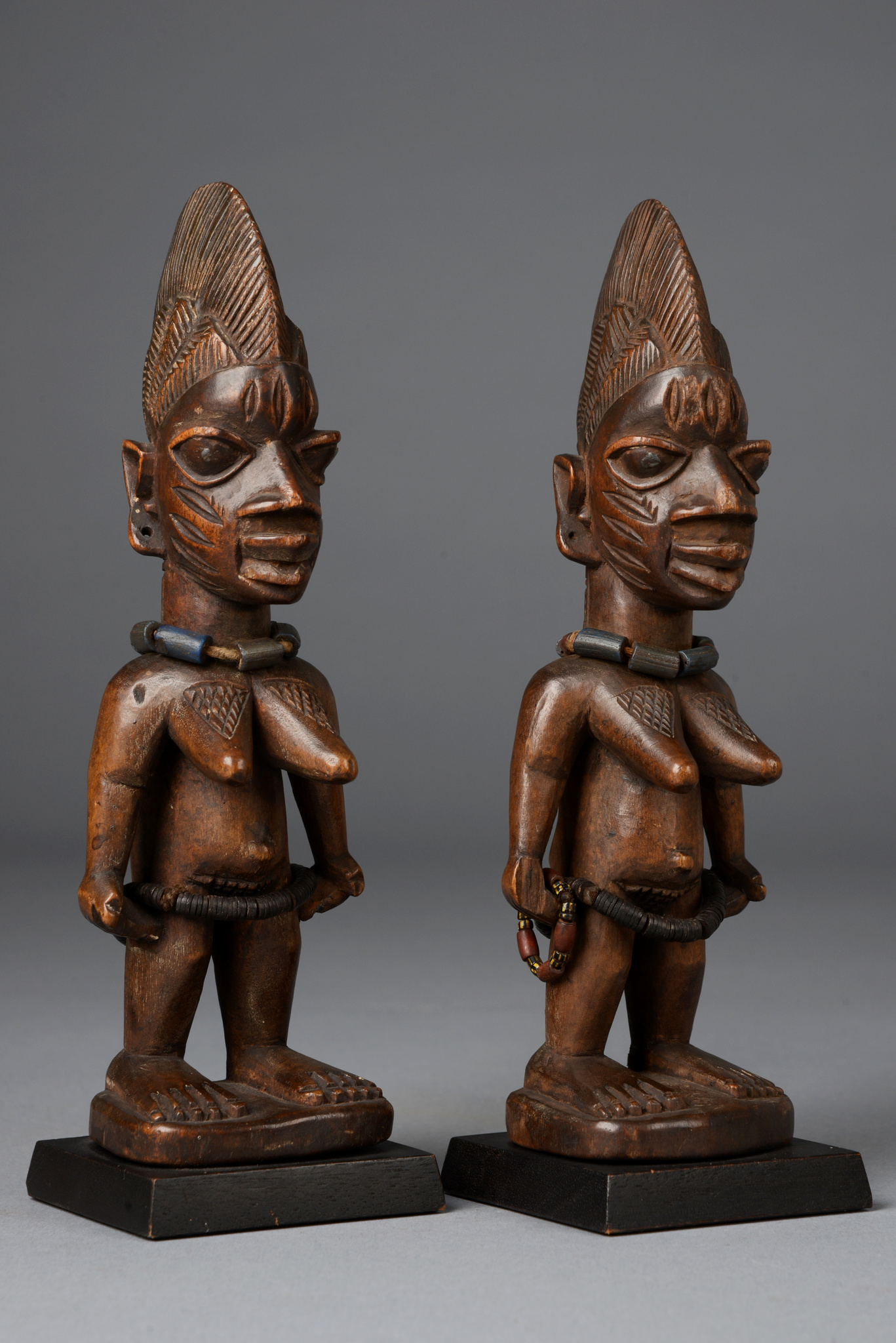 "Female pair of twin figures ""ere ibeji"""