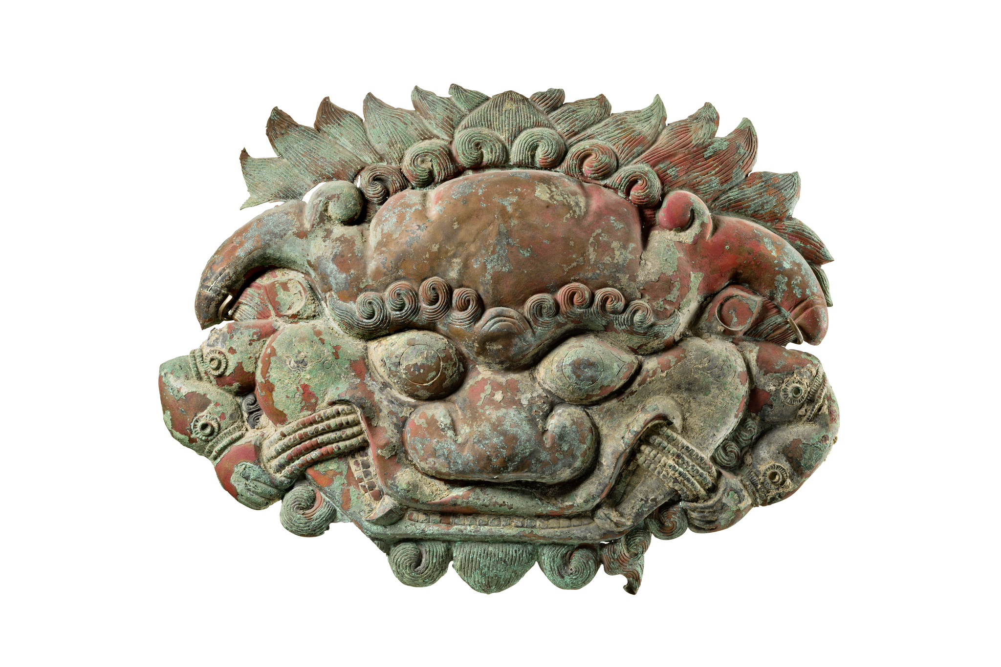 """Maske des Ungeheuers """"Zeebad"""", 18. Jahrhundert oder früher"""