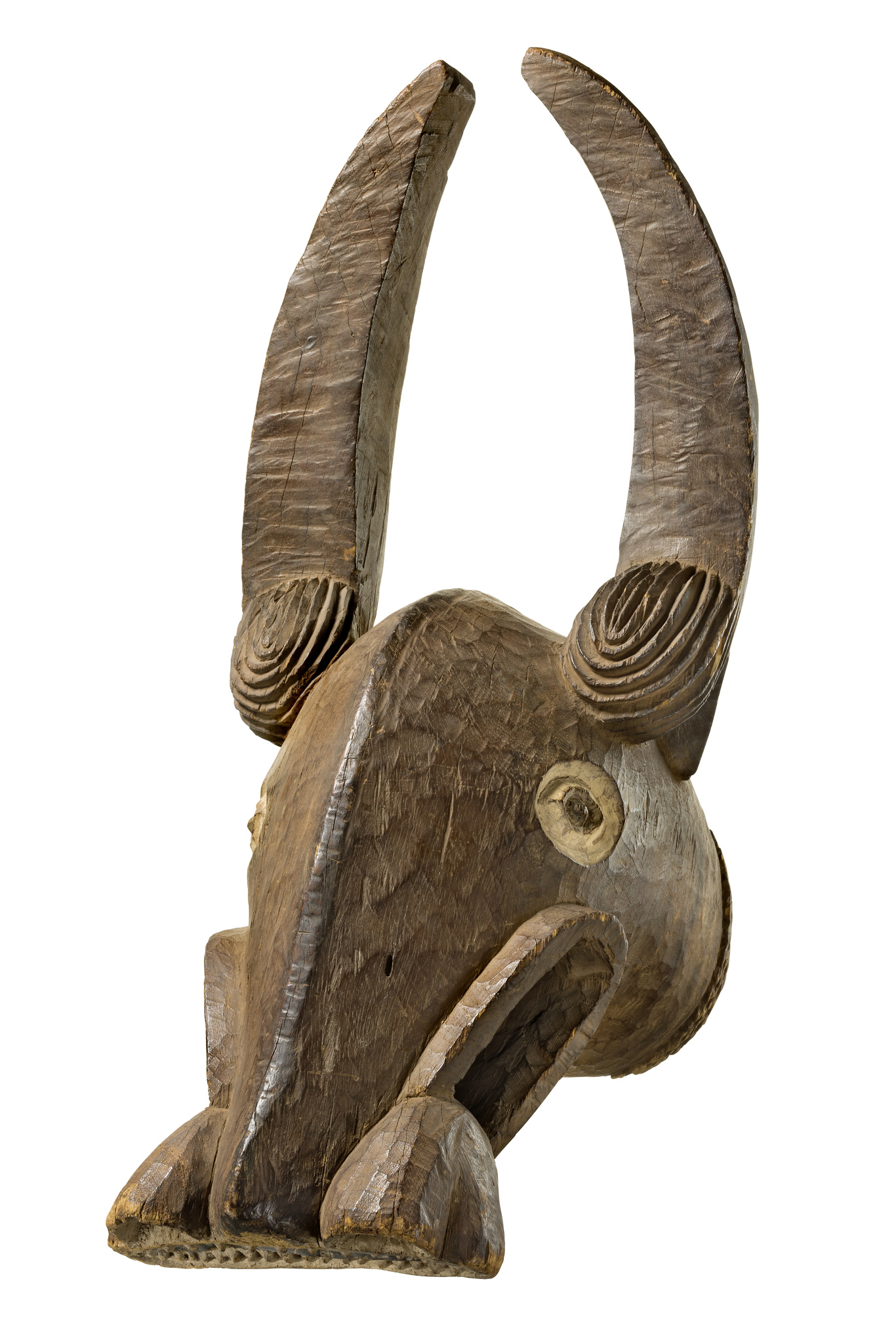 "Große helmförmige Büffelmaske ""nya"""